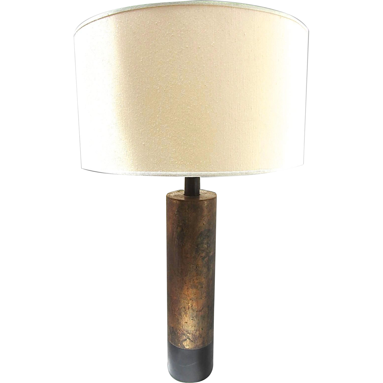 33 tall mid century modern cylinder lamp. Black Bedroom Furniture Sets. Home Design Ideas