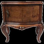 SALE Antique Burl Cabinet Side Table