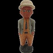 "SALE African Wooden Vintage Folk Art Figurine 16""h"