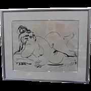 1957 Signed Jose de Creeft Nude Sketch-Framed