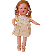 "SOLD 15"" German composition doll mold #455 on five piece body."