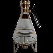 SALE Inland Glass Gold Stripe Coffee Carafe
