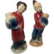 SALE Royal Copley Oriental Boy and Girl Figurines