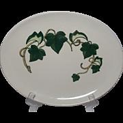 Vintage Metlox California Ivy Poppy Trail Platter