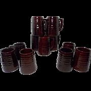 Vintage Mar-Crest Stoneware1950's Tankards