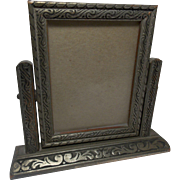 SOLD Vintage Small Silver Swivel Frame on a Stand