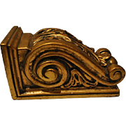 "Beautiful Vintage Italian Gold Gilt Wall Shelf Sconce Heavy 8"""