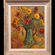 "Walter Alexander Bailey (American, 1894-1989) Large 31""x26"" Mid Century Modern Art T"