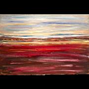 Striking Large Abstract Landscape Vivid Colors 36x24