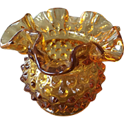 SALE Fenton Hobnail Vase Colonial Amber