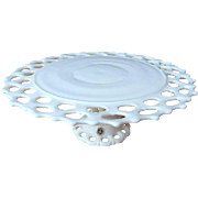 SOLD Westmoreland Doric Milk Glass Footed Cake Plate Stand