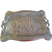 "SOLD Arthur Court Elephant Clutch Tray 19"" by 14"" - Red Tag Sale Item"
