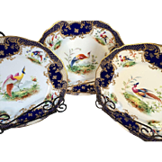 Set of 8 Antique Tiffany and Co Hand Painted Signed Plates **Free Shipping**