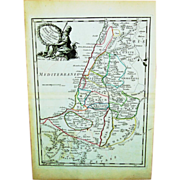 18th Century Map of Holy Land and Palestine (1756)