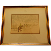 20th Century Water Color on Paper by S.F. Sobanski