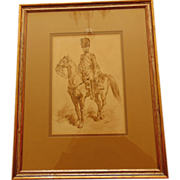Early 19th Century Water Color on Paper by Nicolas Charlet
