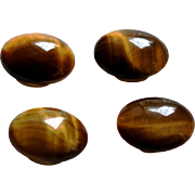 Set of 4 Tiger Eye Button Covers