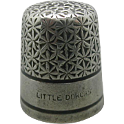 Charles Horner 'Little Dorcas' thimble. c 1920