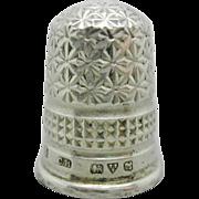 1917-Charles Horner English silver thimble.