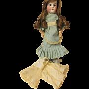Antqiue Eden Bebe bisque doll, Paris human hair wig