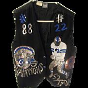 Vintage rayon Modi Dallas Cowboys sequin Emmitt Smith, Michael Irvin ladies vest