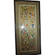 Fabulous silk embroidered Story telling picture.