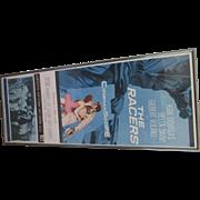 Vintage Kirk Douglas 1954 Cinema Scope Poster Bella Darvi In the Racer.  Great Valentines for