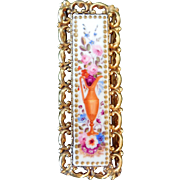 Victorian Hand-Painted Porcelain Brooch