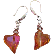 Swarovski Crystal Wild Hearts Astral Pink Earrings