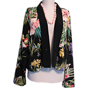 SOLD Vintage Jacket Hawaiian Tropical Style Santa Cruz Sportswear