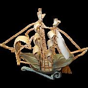 Brass sailing ship