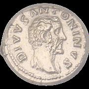 SALE Ancient Roman Silver Coin Divus Antoninus Pius Denaius 161 A.D. Graded by ICG ...
