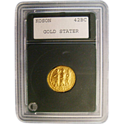 SALE Ancient Gold Stater Coin Koson 42 B.C. Roman Civil War Brutus Assassin of ...
