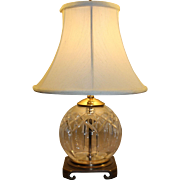 SOLD Waterford Crystal Lismore Table Lamp