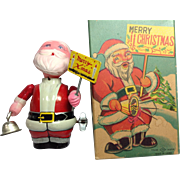 Wind Up Tin / Celluloid Santa Japan