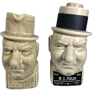 1955 W. C. Fields Whiskey Decanters by McCoy Pottery