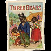 1939 Linenette Book: Three Bears Child's Booklet