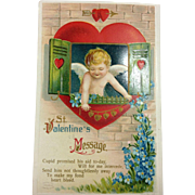 Unsigned Embossed Clapsaddle Valentine