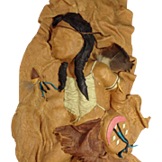 SOLD Artist Signed Leather Sculptures Native Americans