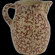 Robinson Ransbottom Stoneware Milk Pitcher Roseville, Ohio Circa 1940