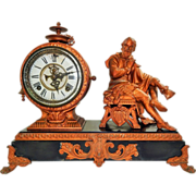 SOLD Gorgeous Ansonia Shakespeare Figural Mantel Clock-June 13, 1882 Excellent, Fully Working