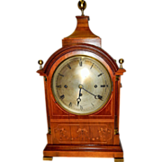 Extremely Rare 1868 F.W. Elliot English Triple Wind Fusee Clock-Excellent, Fully Working ...