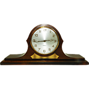 190) Vintage Art Deco Style Gilbert Wooden Mantel Clock-Great Condition-Working Great!