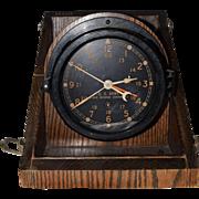 WWII U.S. Army Chelsea Ships Clock in ORIGINAL Box