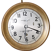 19. Antique Chelsea U.S. Maritme Commission Clock. This is a RARE Chelsea ships clock.