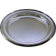 REDUCED Round Platter 12 in. with Bead Pattern, Applied Border