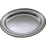 REDUCED Round Platter 16 in. with Gadroon, Applied Border