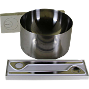 REDUCED Stelton Stainless Double Wall Salad Bowl & Salad Servers designed by Arne Jacobsen
