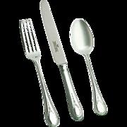 REDUCED 4-pc Place-Setting (Dinner Fork, Dessert Spoon & Fork, Tea Spoon) missing Knife.
