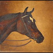 ALFRED WHEELER, Listed United Kingdom, BENDIGO (Thoroughbred racehorse) 19th Century oil on ..